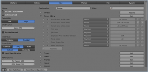 keymap editor