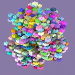 A 1000-brick Brickoku model